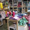 Checking out Half Pint's quality clothing and toys