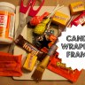 Halloween Candy Wrapper Picture Frame Craft