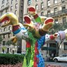 This statue on Park Avenue by Niki de Saint Phalle reminds me of Medusa