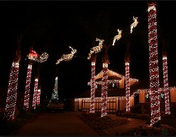 Christmas Light Displays and Holiday Decorations around Orange County