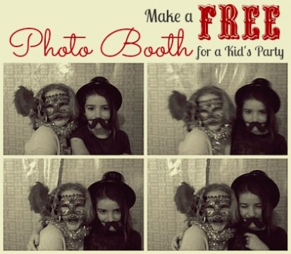 How to Make a Free Photo Booth for a Kids' Party