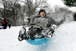 Free Sledding and Hot Chocolate in NYC Parks Saturday, January 4, 2014