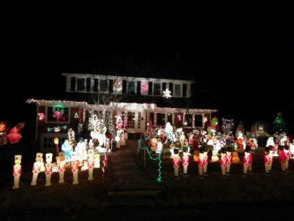 Nearby you'll find this festive house on Gedney Park Drive in White Plains