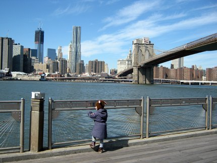 Dumbo offers lovely views of lower Manhattan