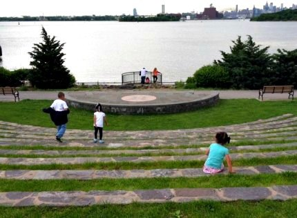 Barretto Point Park's amphitheater