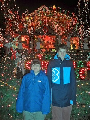 the front of The Christmas House