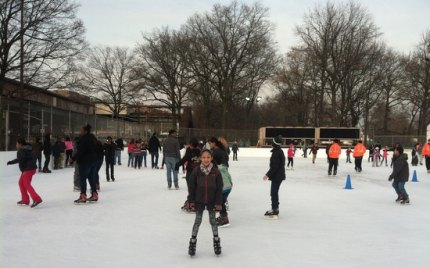 Bronx families have already discovered the brand-new Van Cortlandt Park Ice Skating Rink