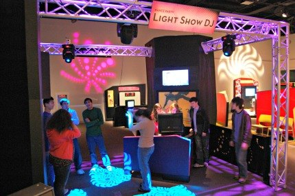 Design Zone's cool interactive music area