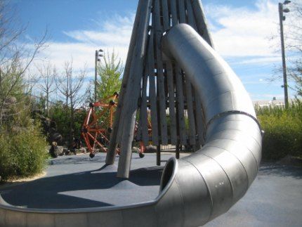 Slide Mountian at the Pier 6 Playground