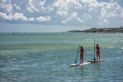 Paddleboarding is another of the many water activities in Islamorada.