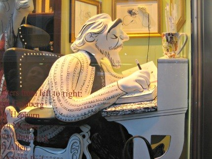 Henri Bendel's windows pay homage to late caricature artist Al Hirschfeld