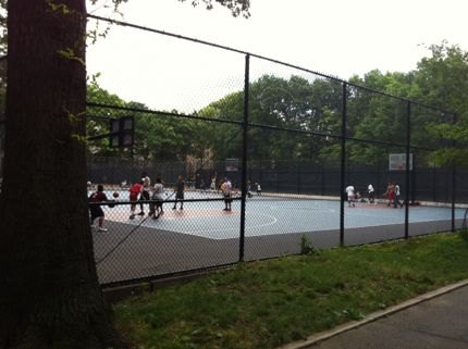 There are all kinds of ball fields and courts in Inwood Hill Park