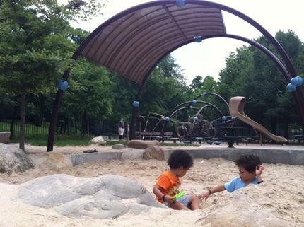 Inwood Hill Park boasts three playgrounds, but Indian Road Playground is definitely most popular