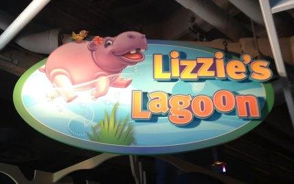 """Lizzie's Lagoon""--one of the many places to play and climb inside KidZone."