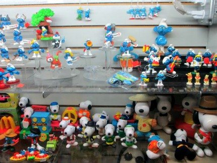 Toy Tokyo had an entire case dedicated to Smurfs and Snoopys