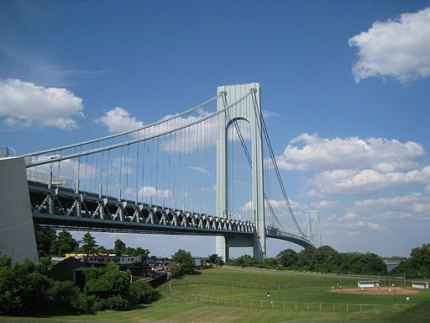 The majestic Verrazano-Narrows Bridge can be seen from many points in Bay Ridge