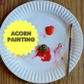 Things to do with kids: Fall Crafts for Toddlers: Acorn Painting