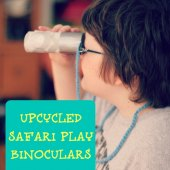 Things to do with kids: WeeWork Kids Craft: Upcycled Safari Play Binoculars