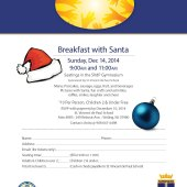 Breakfast with Santa at St. Vincent de Paul in Stirling!
