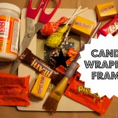 Things to do with kids: Halloween Candy Wrapper Picture Frame Craft