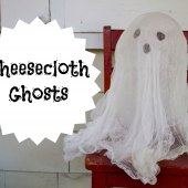 Things to do with kids: Easy Halloween Decorations: Cheesecloth Ghosts