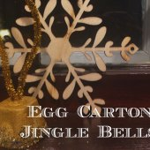 Things to do with kids: WeeWork Kids Craft: Easy Egg Carton Jingle Bells