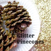 Things to do with kids: Kids Craft: Make Scented Glitter Pinecones