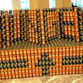 Things to do with kids: Canstruction: Check Out These Amazing Pics of Sculptures Made From Cans