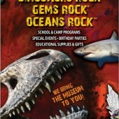 DINOSAURS ROCK Fossil, Mineral, Ocean Events and On-line Store