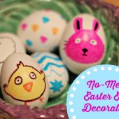 Things to do with kids: No-Mess Easter Egg Decorating: Sharpie Easter Egg Designs