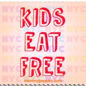 Things to do with kids: NYC Restaurants Where Kids Eat Free