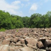 Things to do with kids: Ringing Rocks Park in Bucks County Climbing Adventure