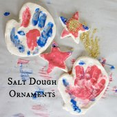 Things to do with kids: WeeWork Holiday Crafts: Easy Salt Dough Handprint Ornaments