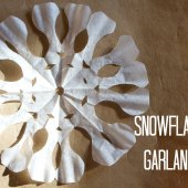 Things to do with kids: Kids Craft: Coffee Filter Snowflake Garlands