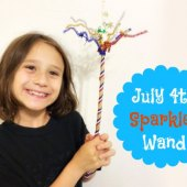 Things to do with kids: July 4th Magic Sparkler Wand Craft
