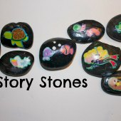 Things to do with kids: WeeWork Kids Crafts: Easy Story Stones
