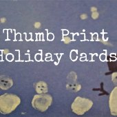 Things to do with kids: WeeWork Kids Craft: Easy Handmade Thumbprint Holiday Cards