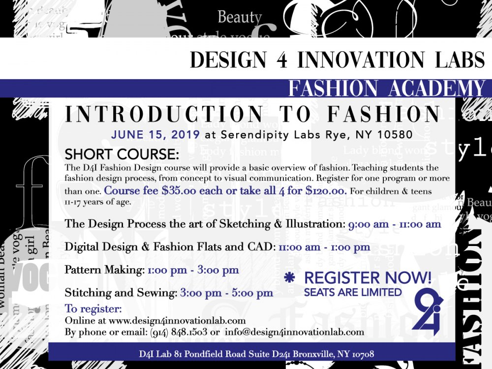 Design 4 Innovation Labs Fashion Academy Mommypoppins Things To Do In Westchester With Kids