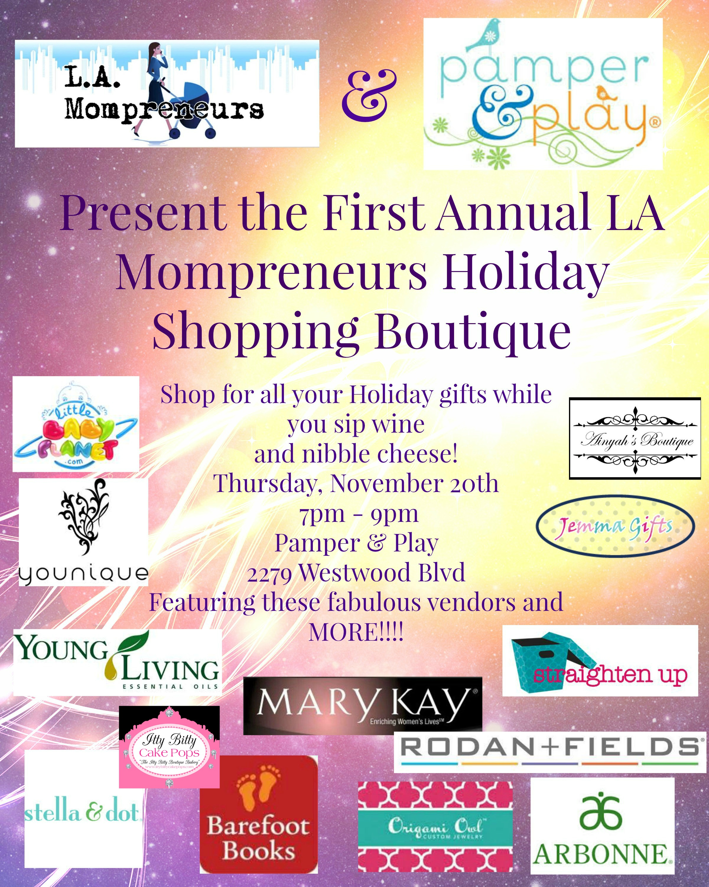 LA Mompreneurs First Annual Holiday Boutique | MommyPoppins
