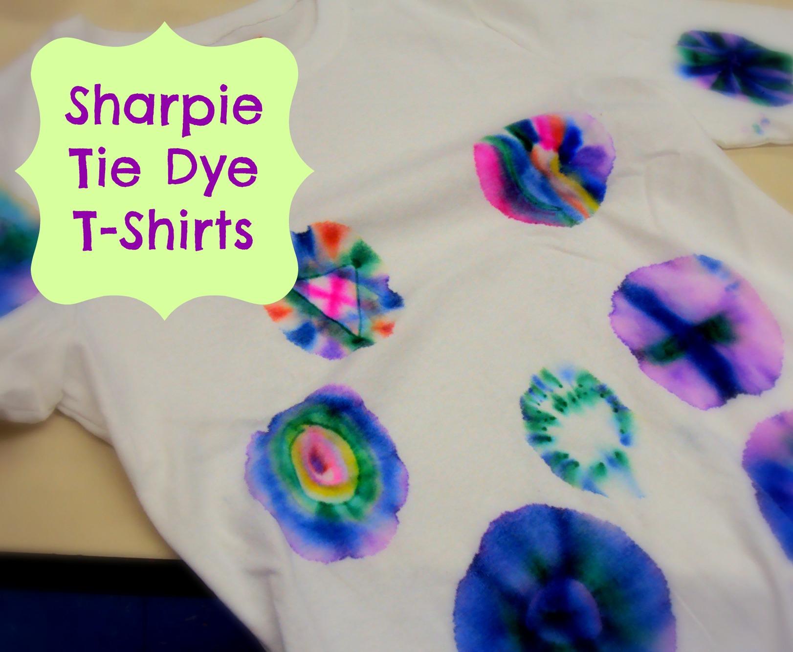 d6176a4e63b3 WeeWork Kids Craft  Sharpie Tie Dye Tees