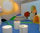 Soft climbing area and light tables