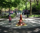 Chelsea Park also has seal sprinklers