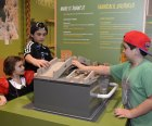 "Children experience the ""Make and Shake"" activity at the imagiNATIONS Activity Center at the National Museum of the American Indian in New York."