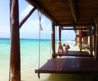 Beach swings