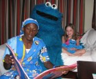 Cookie Monster bedtime story and tuck in