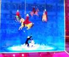 Bloomies' Cirque du Soleil windows