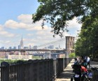 Stroll the Brooklyn Heights Promenade for amazing views of the Brooklyn<br /> Bridge and downtown Manhattan