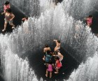 Brooklyn Bridge Park's public art display by Jeppe Hein will delight the kids with<br/>playful installations like Appearing Rooms
