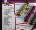 The children's menu will keep little ones happy