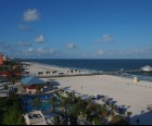 Most rooms have a balcony with a beach view similar to this